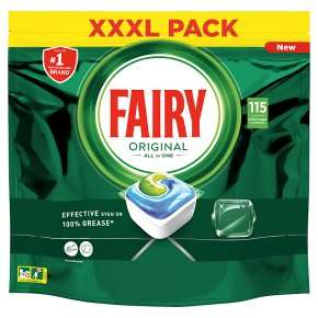 Fairy All In One 115 Capsules 1553g £14 @ Waitrose & Partners