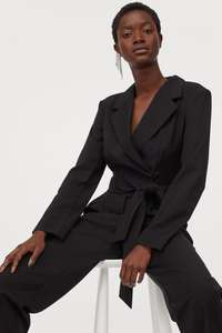 H&M Tux Tuxedo jumpsuit size 4-22 now £12 + £3.99 delivery / free for members @ H&M