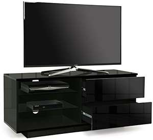 "Centurion Gallus Gloss Black with 2-Black Drawers & 3-Shelf 26""-55"" Cabinet TV Stand 'Used - Very Good' £33.26 @ amazon warehouse"