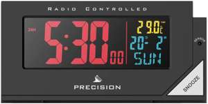 Precision Radio Controlled Colour Display Alarm Clock (More in OP) - £13.19 (free click & collect) @ Argos