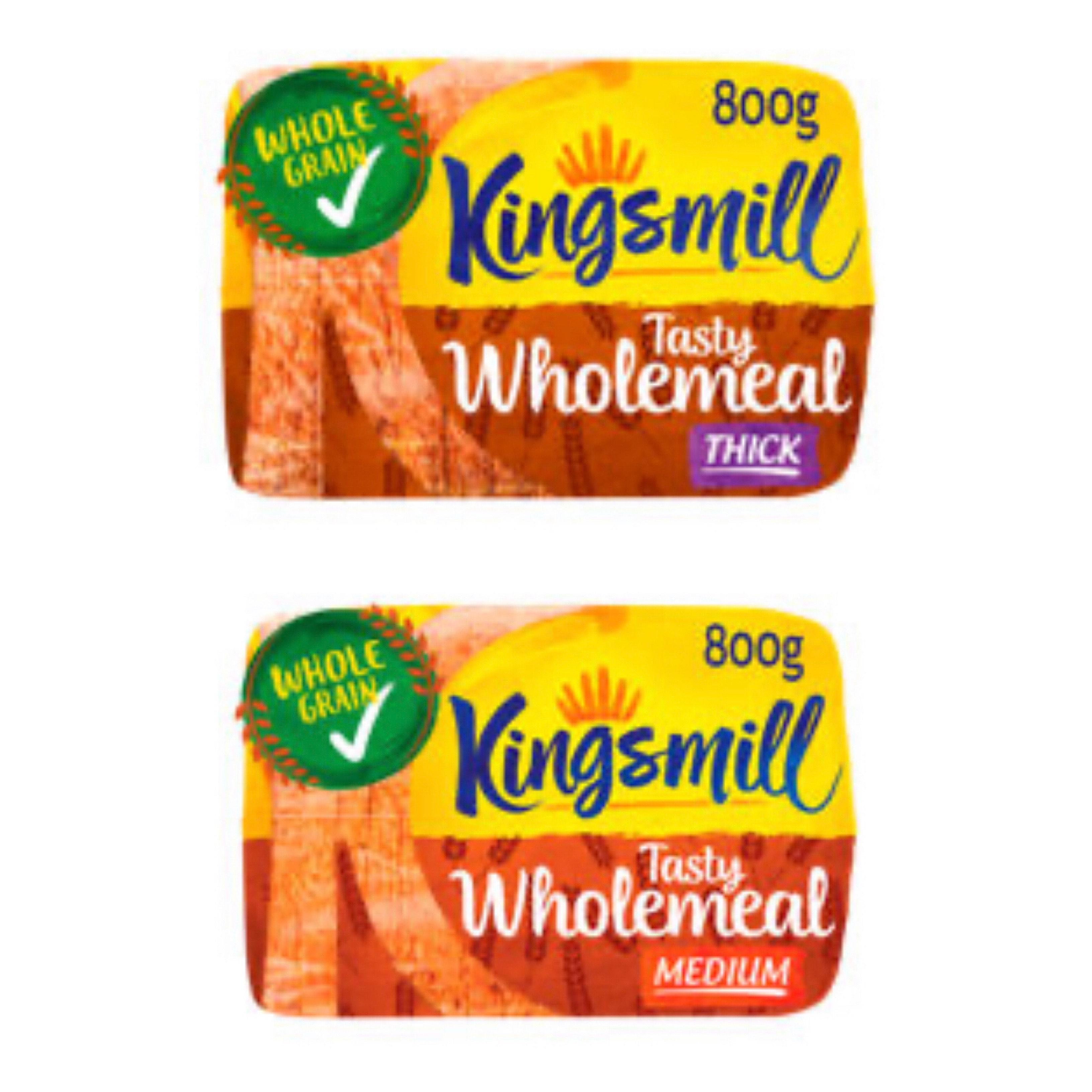 Kingsmill Thick /Medium Wholemeal Bread 800g, 79p Rollback at Asda