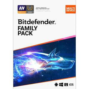 Bit Defender Family Pack 15 devices, 2x Years - £29.99 @ PC Pro