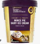 Sainsburys taste the difference mince pie flavour ice cream 323ml - 75p Instore @ Sainsbury's (Preston)