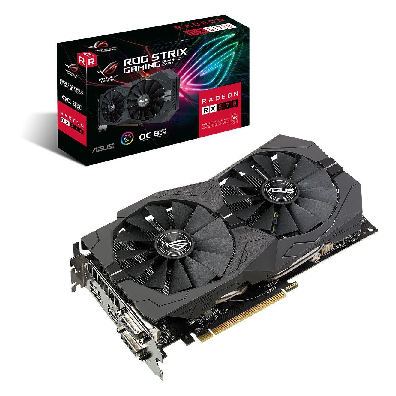 ASUS Radeon RX 570 ROG Strix 8GB OC GPU £179.99 delivered @ CCOnline