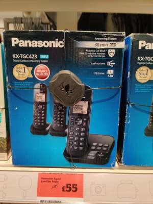 Panasonic TGC42 Cordless Phone Trio £55 instore at Sainsbury's (found Urmston)