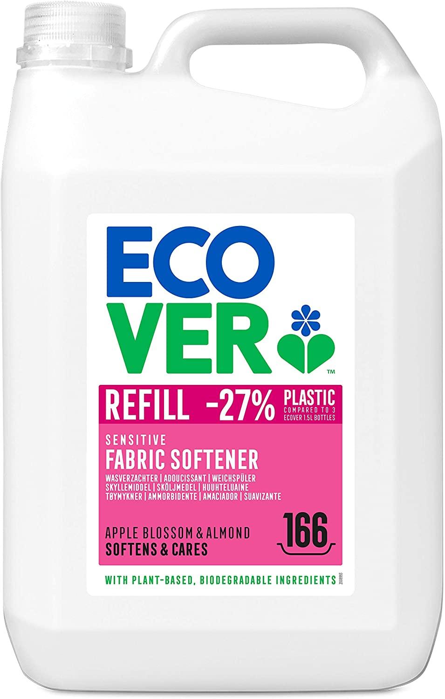 Ecover Fabric Softener Refill Apple Blossom & Almond 5L £10.26 S&S / £11.40 Prime (+£4.49 non Prime) at Amazon