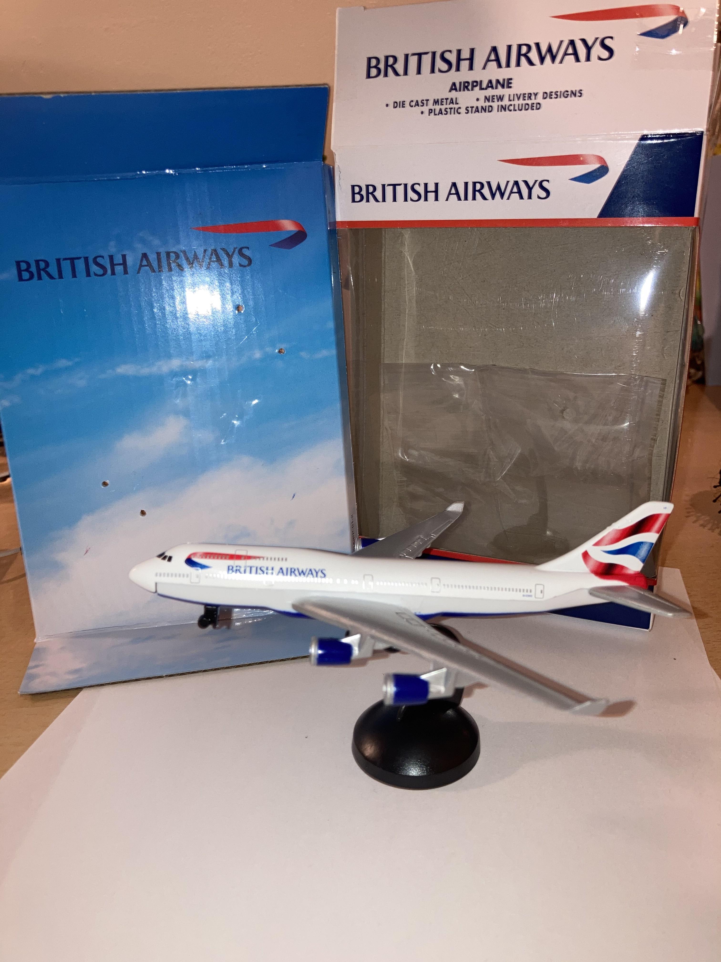 Die cast model Boeing 747 British Airways for £1.99 instore at Home Bargains