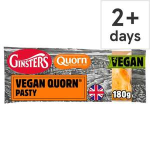 Ginsters Vegan Quorn Pasty 180g 90p with Clubcard @ Tesco