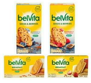 Belvita Sandwich Yogurt Crunch 253G / Strawberry & Yogurt 253G / Raspberry Chia Seeds 270G / Blueberry Flax Seeds 270G - £1.39 @ Tesco