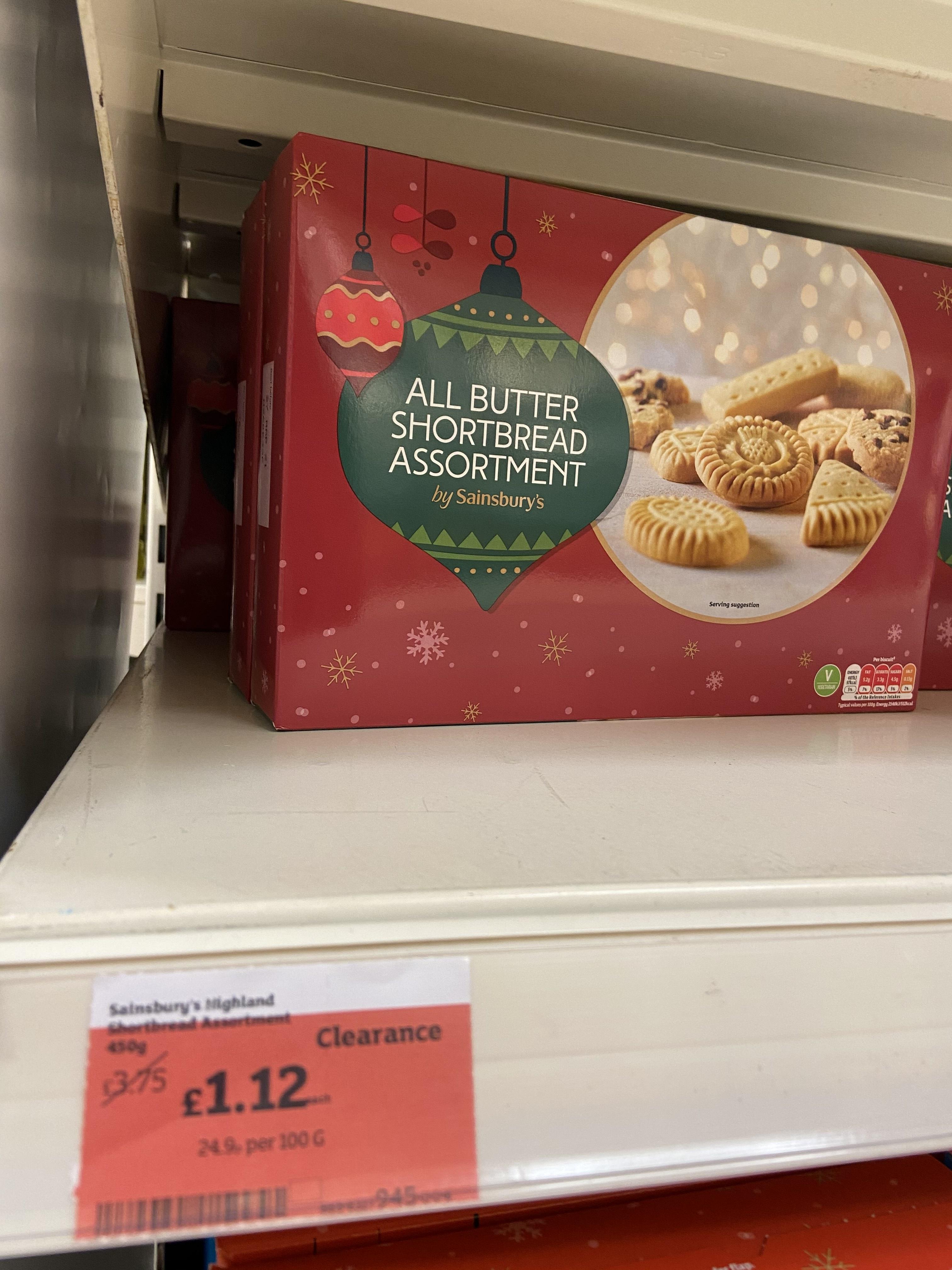 450g All Butter Shortbread Assortment £1.12 at Sainsbury's Kirkcaldy