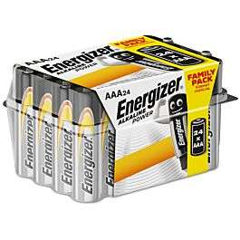 Energizer AAA Alkaline Power Batteries - 24 Pack for £5.99 (Free Collection) @ Robert Dyas