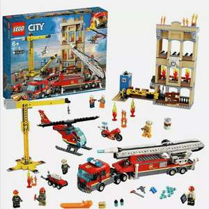 LEGO City 60216 Fire Downtown Fire Brigade Building Set with 7 Minifigures - £35 Argos on eBay - Click & Collect only