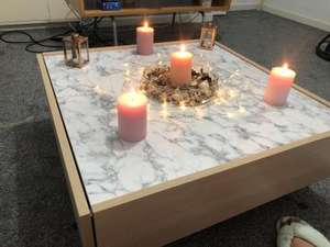 Argos Home Evelyn Coffee Table - Marble & Light Oak Effect - £62.95 delivered @ Argos