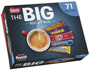 NESTLÉ The Big Biscuit Box, Chocolate Biscuit Bars, Christmas Gift x71 £7.99 Prime/ +4.49 NonPrime at Amazon