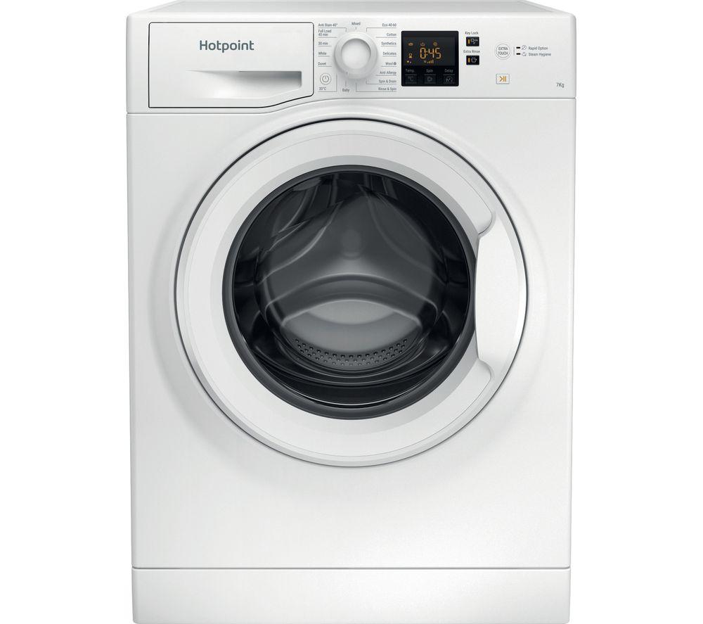 HOTPOINT UK 7 kg 1400 Spin Washing Machine - White - £219 @ Currys PC World