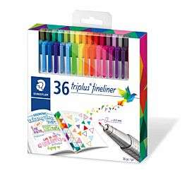 Staedtler Triplus Fineliner Brilliant Colours Pack 36 £14.99 + £3.95 del at Ryman