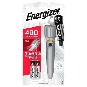 Energizer Metal Vision Torch 400 lumens 2xAA battery £10 (+ delivery cost and min spend) @ Tesco