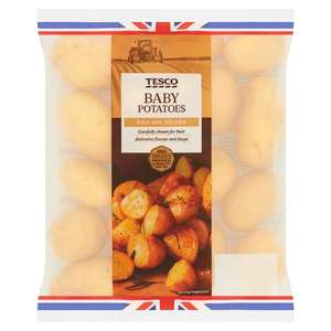 Tesco Baby Potatoes 1kg 75p Clubcard Price (+ Delivery Charge / Min Spend Applies) at Tesco