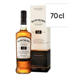 Bowmore 12 Year Old Whisky 70Cl - Smoky £26 (+ Delivery Charge / Min Spend Applies) @ Tesco