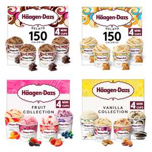 Haagen-Dazs Chocolate Drizzle Gelato or Caramel Swirl Mini Cups 4X95ml - £2.50 (+ Delivery Charge / Min Spend Applies) @ Morrisons