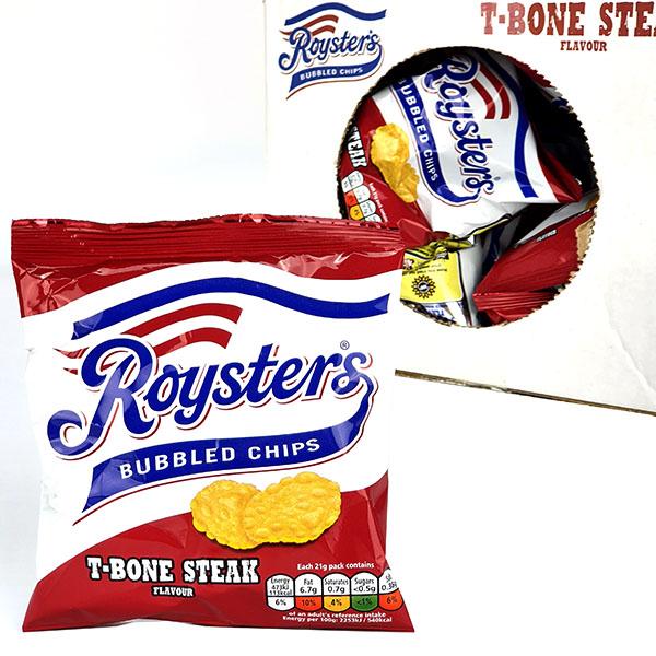 28 x Roysters Bubbled Chips T-Bone Steak Flavour 21g Packs (Best Before 13/2/21) £9 Delivered @ Yankee Bundles