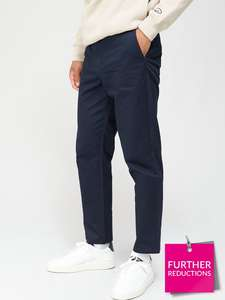 River Island Axis Chino Tapered - Navy £5.60 + £3.99 del at Very