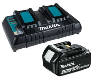 Dual makita charger and battery £131.54 @ Toolden