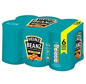 Heinz Baked Beanz Tomato in a rich tomato Sauce, 415g (Pack of 6) - £2.97 (+£4.49 Non-Prime) @ Amazon