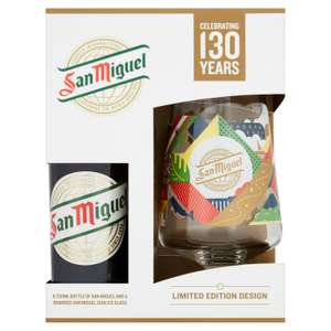San Miguel Limited Edition 130 Years Chalice (+ free 330ml bottle) - £2.50 @ McColls
