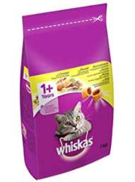 Whiskas 1+ Dry Cat Food for Adult cats with Chicken, 1 bag (1 x 7 kg) £13.50 / £7.42 S&S (+ £4.49 Non Prime) @ Amazon