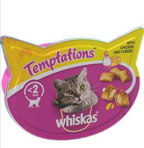 Whiskas Temptations Chicken & Cheese Filling, 8 x 60 g Packets £8 +£4.49 NP (Potentially £4.80 after first s&s with voucher) @ Amazon