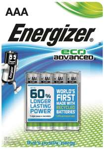 Energizer Eco Advanced AAA Batteries Pack of 4 now 53p in Co-op local in Bath