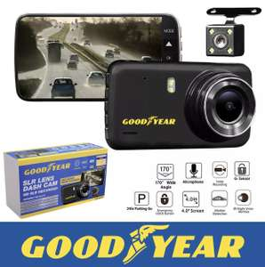 Goodyear 1080P Dual Lens Front and Rear Camera Dash Cam Recorder - £29.99 @ Thinkprice eBay (was £79.99) + Free Delivery