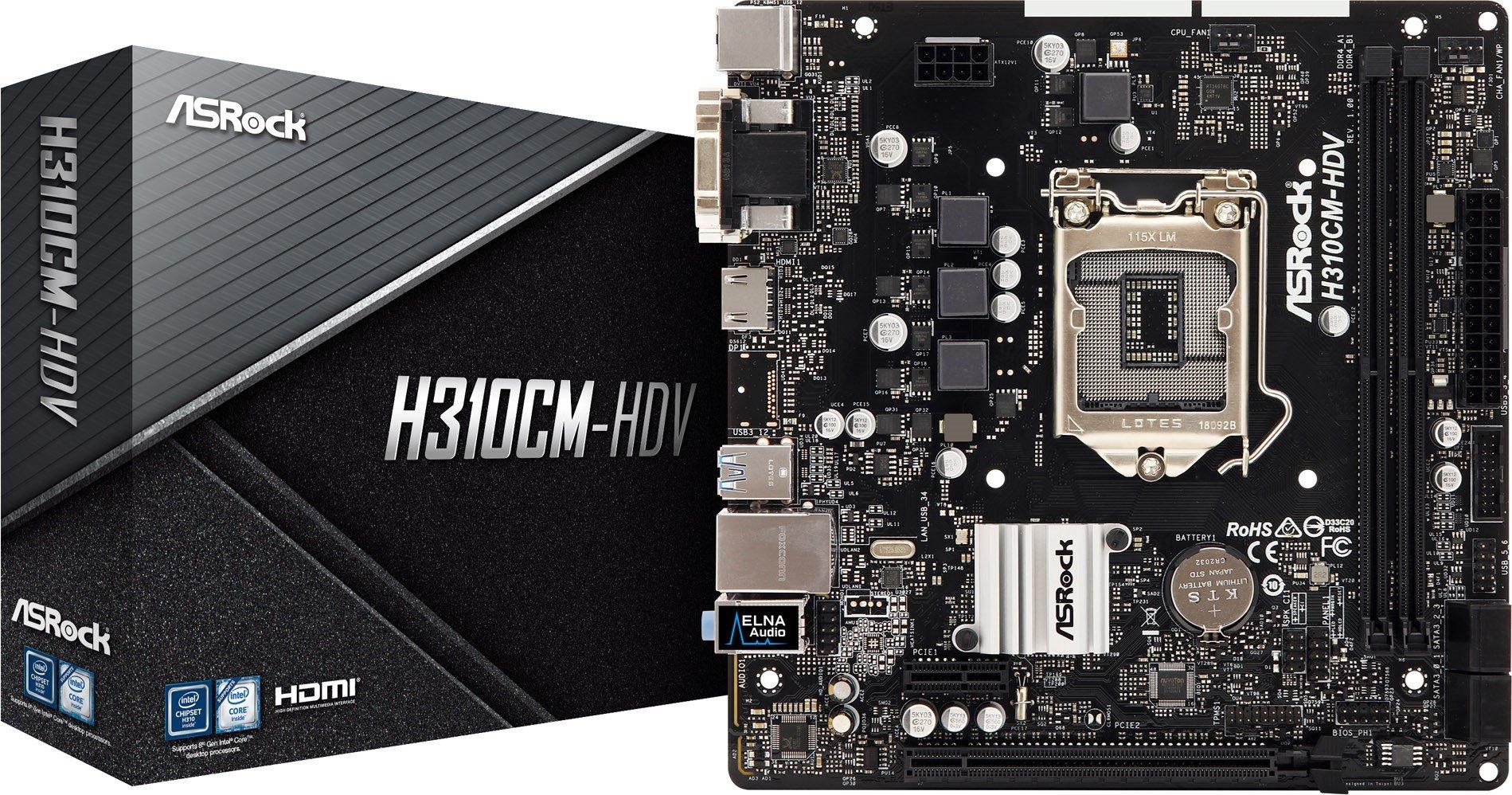 ASRock H310CM-HDV Intel Socket 1151 Motherboard £52.44 at CCLOnline