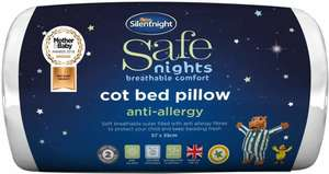 Silentnight Safe Nights Anti-Allergy Cot Bed Pillow is £3.50 (+ Delivery Charge / Minimum Spend Applies) @ Tesco