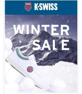 KSWISS winter sale 30% off - Free delivery over £80