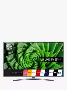 LG 43UN81006LB (2020) LED HDR 4K Ultra HD Smart TV 43 inch with Freeview HD/Freesat and 5 year warranty £379 @ John Lewis