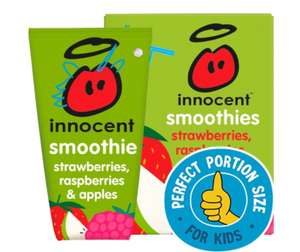 Innocent Smoothies Kids Strawberry, Blackberry & Raspberry 4 x 150ml - £2 (Min Spend & Delivery Charge apply) @ Morrisons