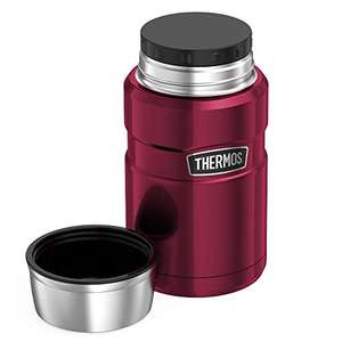 Thermos Food Flask, Stainless Steel, Raspberry, 710ml £16.66 (+£4.49 Non-Prime) @ Amazon