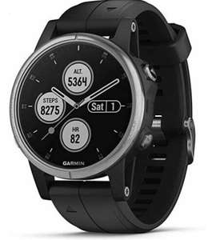 Garmin Fenix 5 Plus Multisport GPS Fitness Smart Watch - Black/Silver | UK F&F refurb £215.99 stockmustgo eBay