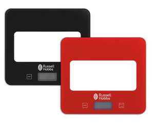 Russell Hobbs Square Digital Scale - Black/Red with 5 year guarantee for £13.70 delivered @ Argos