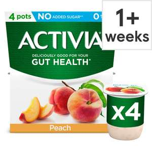 Activia Fat Free Yogurt 4 X 120G - Various Flavours £1 Clubcard members (+ Delivery Charge / Minimum Spend Applies)@ Tesco