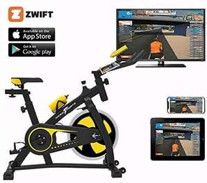 Nero Bluetooth Sports Exercise Bike Indoor 12kg Spinning flywheel - Zwift Ready - Race Live Online - £279.99 with code @ eBay / first2save