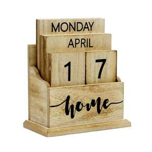 Wooden Vintage Perpetual Calendar | M&W Wood £6.94 delivered @ Roov