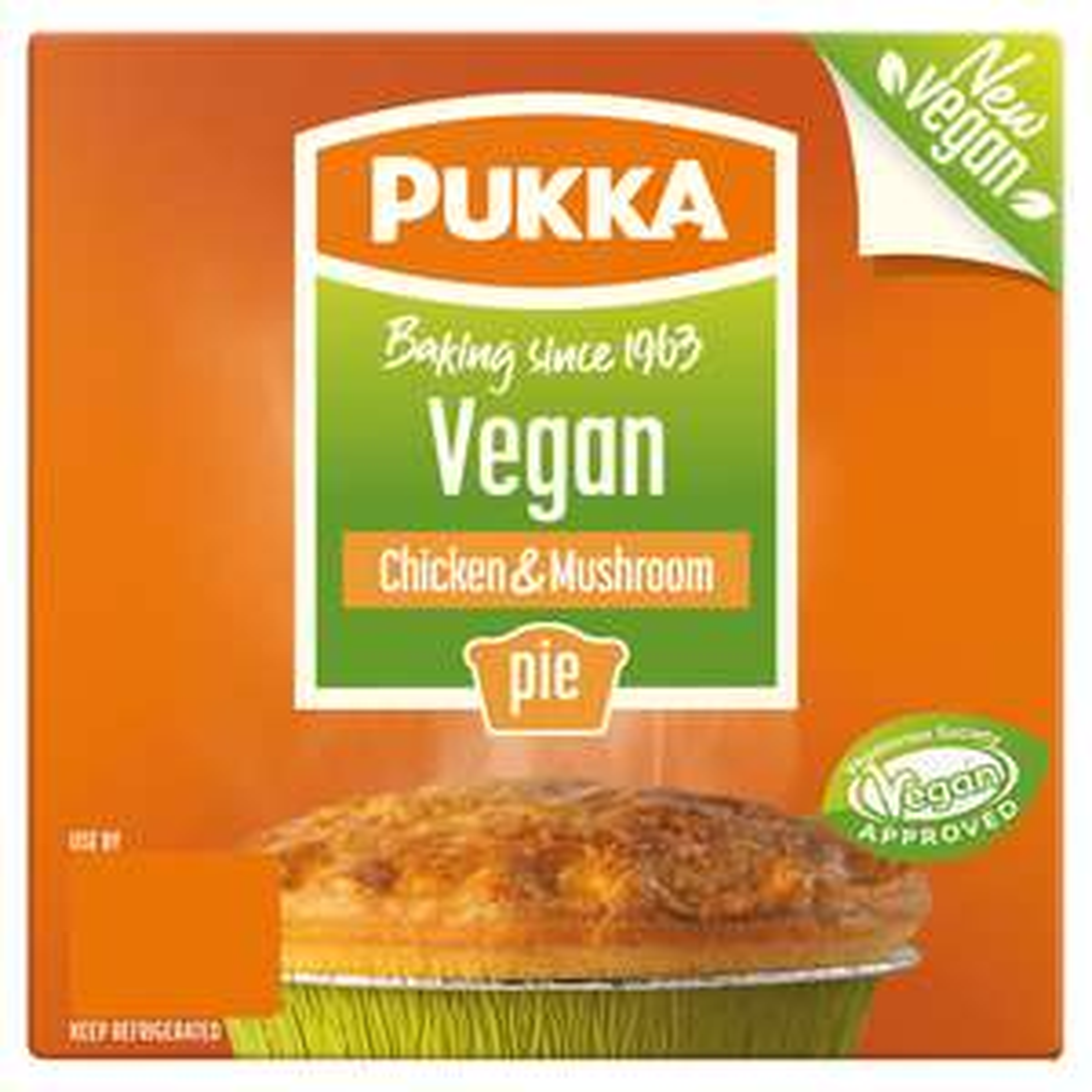 Vegan chicken and mushroom pukka pie £1 (+ Delivery Charge / Minimum Spend Applies) @ Asda