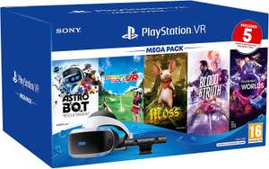 Playstation VR headset mega pack with 5 Games £270.11 Amazon