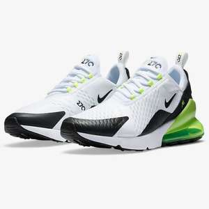 Mens nike air max 270 white / green £56.07 with code at Nike