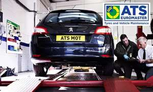 MOT test, vehicle and battery health check and 10% off repairs for ATS Euromaster £18.49 @ Groupon