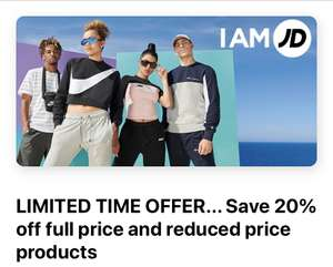 20% off at JD Sports via BlueLightCard