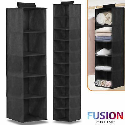 5/10 Pocket Wardrobe Hanging Shelf Storage Rack Organiser Clothes Hang Shelves - from £6.25 @ fusion_online / ebay